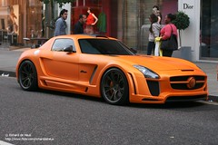 Gullstream (Richard de Heus) Tags: fab orange london design mercedesbenz matte sls amg fabdesign sloanestreet gullstream matteorange