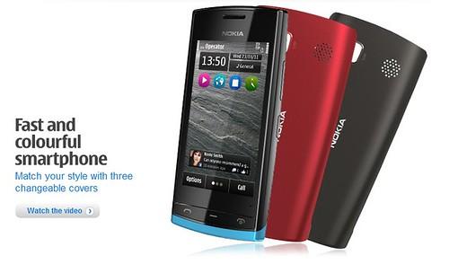 Nokia 500: pigus 1GHz Symbian Anna telefonas