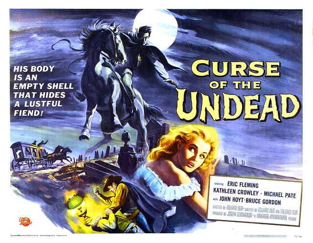 Reynold Brown - Curse of the Undead (Universal International, 1959) half sheet