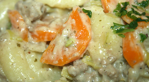 30 - Gnocchi-Gemüse-Schlemmerpfanne / Gnocchi veg stir fry - CloseUp