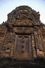 Banteay Srey (Citadel of the Women) (Keith Kelly) Tags: building stone architecture religious temple ancient sandstone asia cambodia southeastasia ruin kingdom holy sacred kh siemreap angkor hindu banteaysrey laterite kampuchea citadelofthewomen rajendravarman late12thcentury banteaysreystyle
