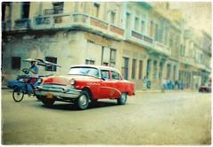 La Habana Vieja (una cierta mirada) Tags: street city red urban car bike buick havana cuba 1956 oldcar habana caribe lahabana artlibre olduntitledexportpostselección