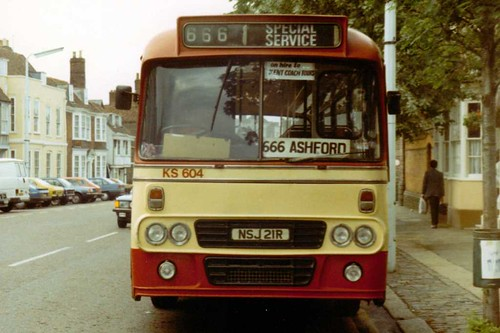 NSJ21R on a 666 to Ashford 17/06/1987