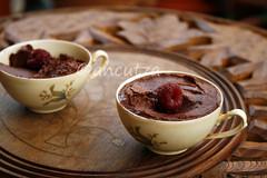 ricetta con foto mousse al cioccolato e lamponi
