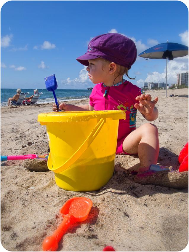 Sandrine sur la plage