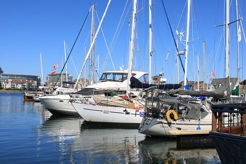 ocean blue sky white water sailboat harbor boat vancouverisland sail mast amazingvancouverisland