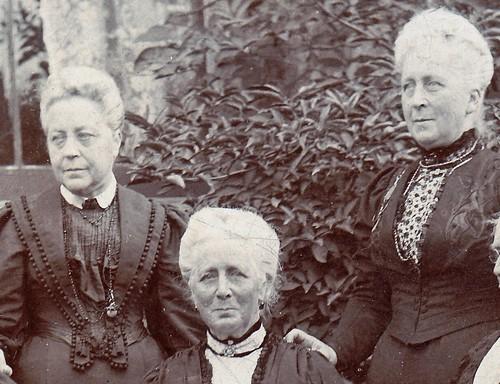 Old ladies. Westgate-on-Sea, Kent. (enlarged detail)