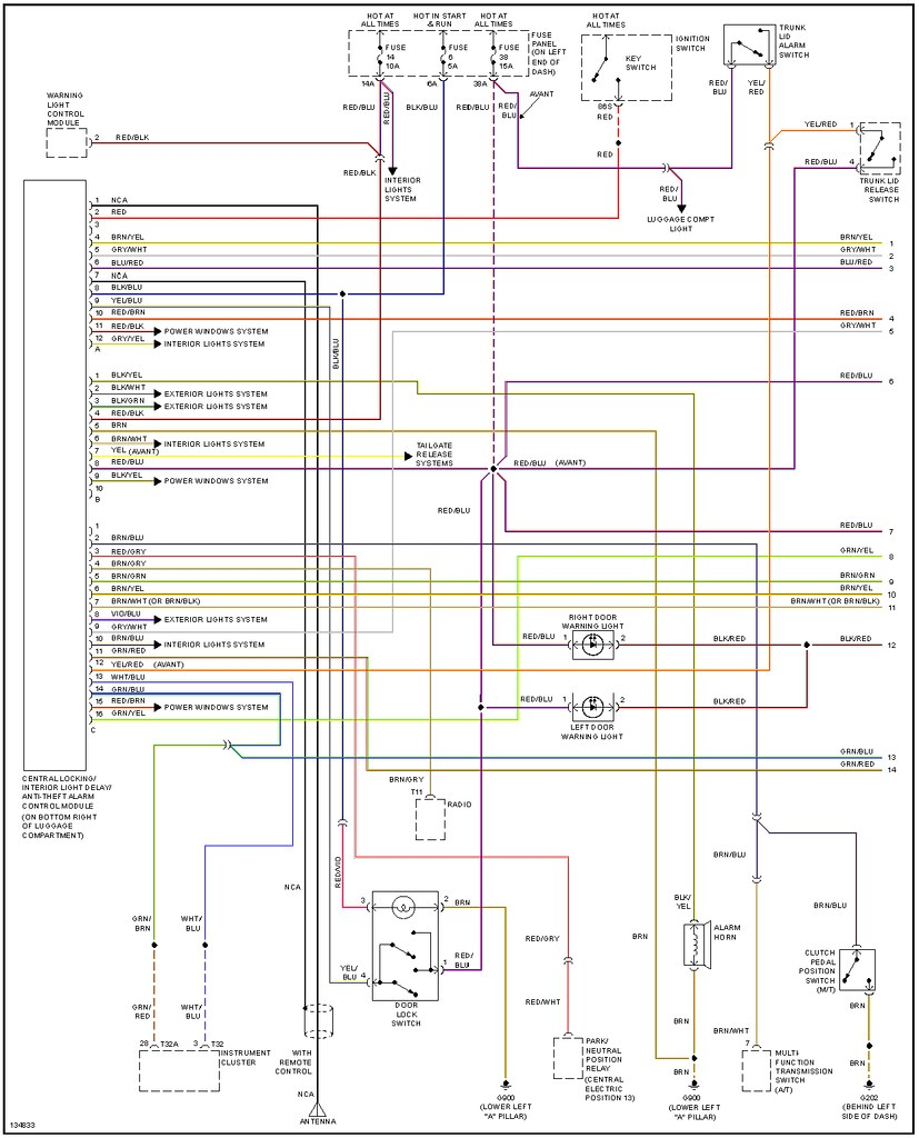 Central Locking Wiring Rainbow Se Series Vacuum Switch Schematic Here Is An Aftermarket Diagram Of The Same System In A More Traditional Layout 2 Pages Do Note That It Not Factory So Accuracy Isnt Always
