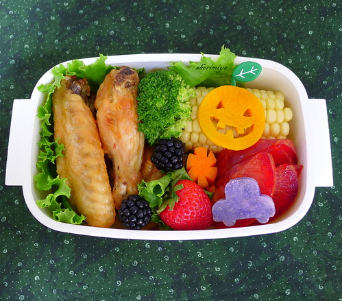 Tebasaki and Kabocha Jack Bento by sherimiya ♥