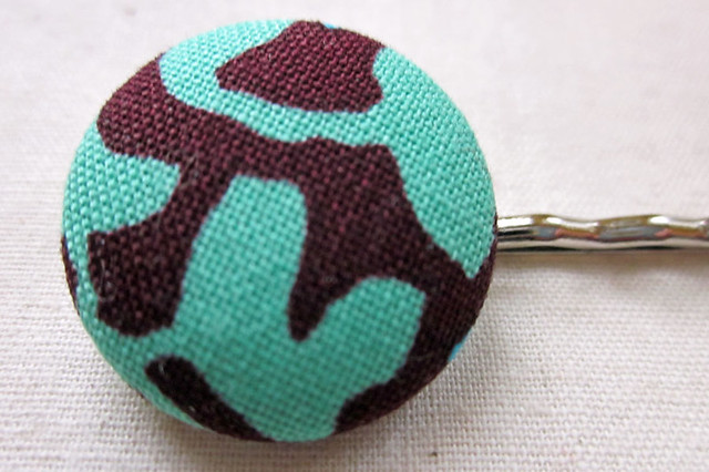 Teal and Brown Pin