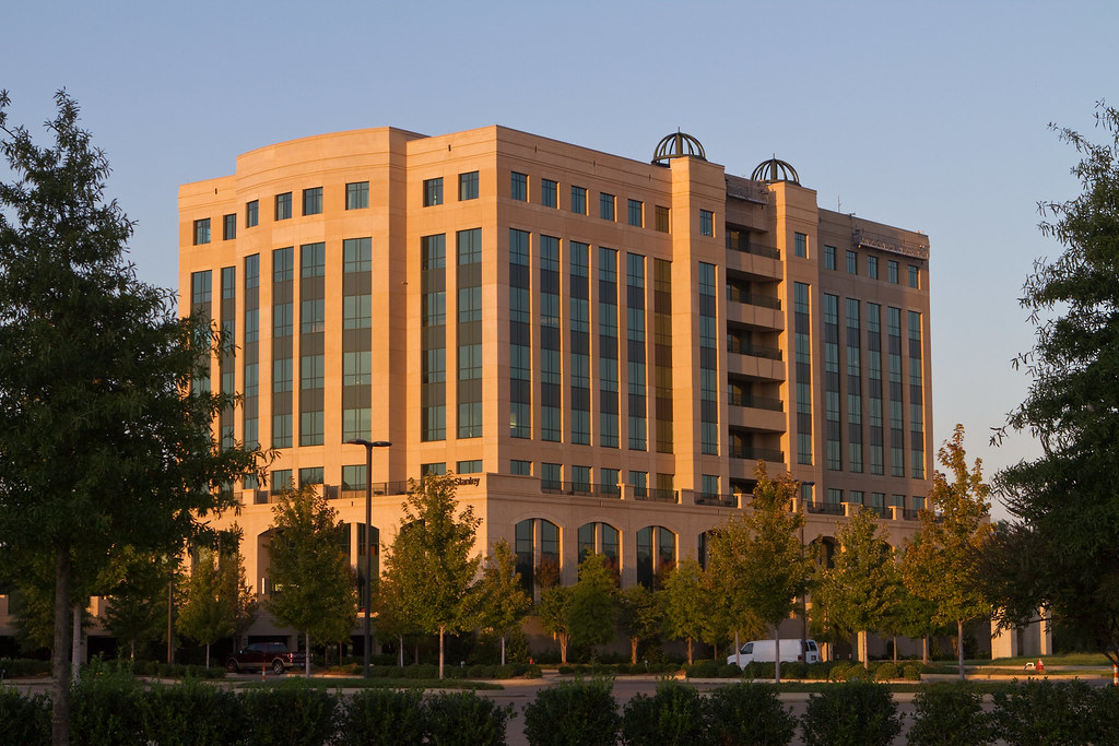 The Cellular South building in Ridgeland awaits its Cspire logo