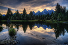 Cool Evening at Schwabachers ~ Grand Teton NP, Wyoming (Tom Lussier Photography) Tags: sunset mountain water clouds forest reflections river landscape nationalpark nikon rockymountains wyoming grandtetonnationalpark d300 schwabacherslanding abigfave grandtetonnationalparkwyoming tomlussier landscapelovers