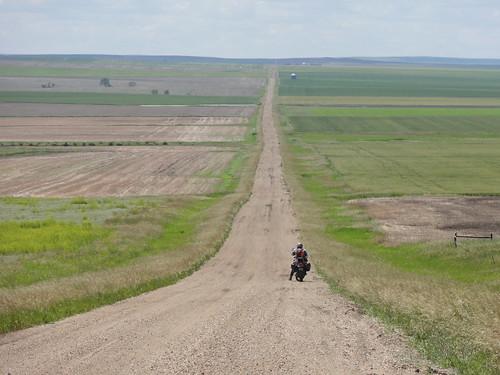 More long straight gravel roads