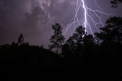 Lightning Strike - Hurlburt Field, Florida (fisherbray) Tags: sky usa storm weather nikon unitedstates florida lightning airforce usaf d40 hurlburt hurlburtfield okaloosacounty fisherbray commandovillage newphotodistillery