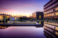Traci (Wolfgang Staudt) Tags: sunset urban architecture buildings reflections cityscape architektur reflexions spiegelung saarbrcken abendstimmung hafenstrasse parkdeck stadtbilder qpark saarbrckenhafenstrasse aboveandbeyondlevel1