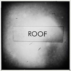 Roof (swanksalot) Tags: roof blackandwhite bw chicago iphone swanksalot sethanderson filmaobw