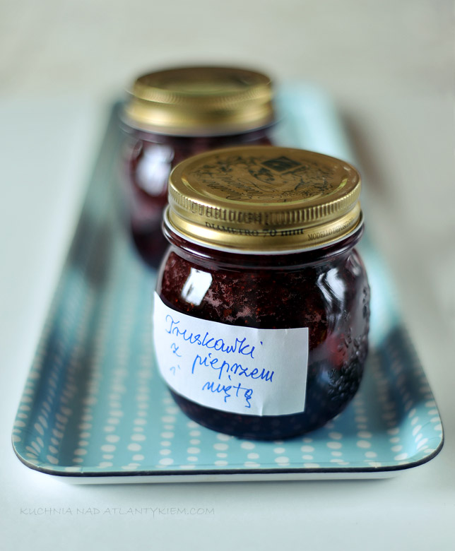 Mint, strawberry and pepper jam