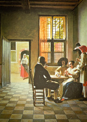 Pieter de Hooch - Cardplayers in a Sunlit Room, 1658 at The Queen's Gallery Buckingham Palace London England (mbell1975) Tags: uk england london art dutch museum painting de golden gallery museu room royal grand palace musée musee m queen queens master age gb goldenage museo masters residence sunlit buckingham pieter muzeum hooch residenz the müze 1658 cardplayers museumuseum