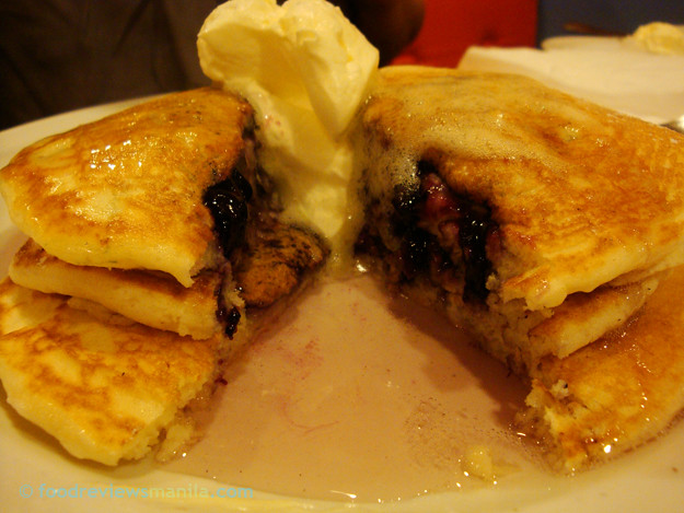 Pancake House Blueberry Pancakes filling