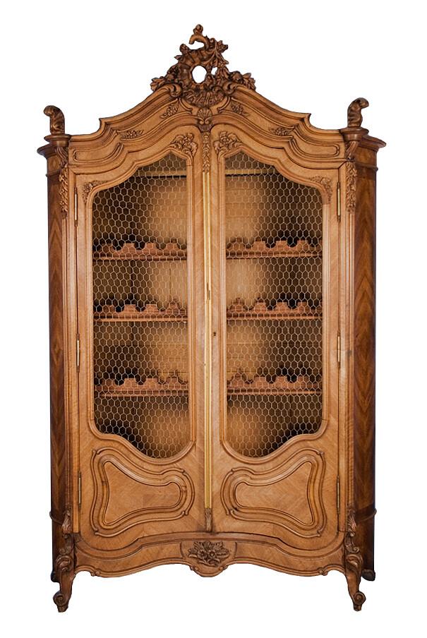 French walnut wine cabinet