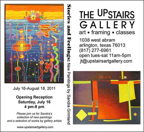 GALLERY OPENING for SANDRA GRIMLAND - Saturday, July 16