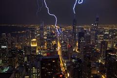 Lightning strikes Chicago (Silver1SWA (Ryan Pastorino)) Tags: chicago storm night canon searstower sigma 7d thunderstorm lightning sigma1020 willistower