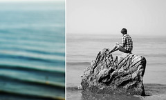 (Maddie Joyce) Tags: ocean california blue sea white black film beach rock 35mm maddie diptych surf hiking adventure joyce