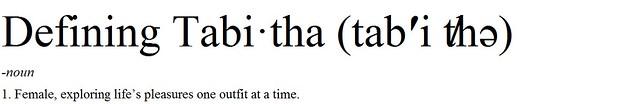 Defining Tabitha header