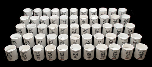 Caricatures printed on mugs for Fisher Scientific - 1