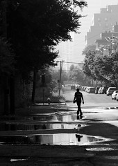 Tenth and Brunswick 04 (Carlin Felder) Tags: morning guy corner work way moving newjersey jerseycity solitude quiet storage brunswickstreet 10thstreet moishes july92011