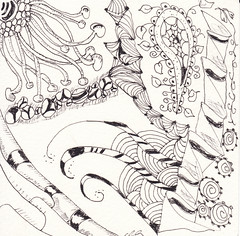 06-15-2011 (Blind Squirrel Photo Safari) Tags: art tile drawing hobby doodle tangle zentangle