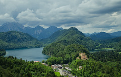 View from Neuschwanstein - [EXPLORED] (andreaskoeberl) Tags: longexposure lake mountains alps castle clouds germany bavaria nikon day cloudy neuschwanstein ndfilter 1685 castleneuschwanstein d7000 nikon1685 regionwide nikond7000 andreaskoeberl