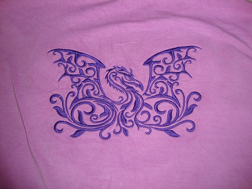 Dragon embroidery on back