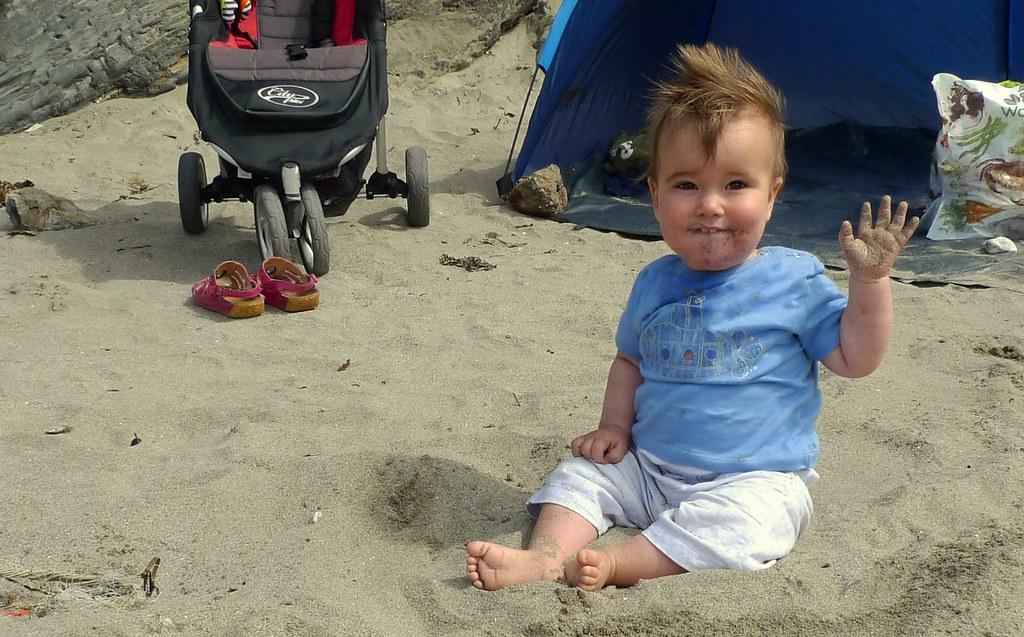 Jasper On Polkerris Beach