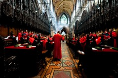 Massed choirs rehearse in the quire (cathedralchoir) Tags: choir jcandsec