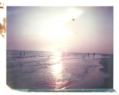 Explorers II (dreamscapesxx) Tags: polaroid instant supershooter treasureislandfl instantmagic iduvfilm expiredin2008 touristsandlocals roidweek2011 usualeveningwalkonthebeach rightaroundsundown weareexplorers