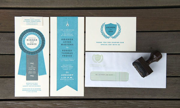 Tom Froese - wedding stationery