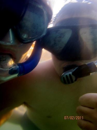 Dan and I in Lagoon 4 Ko'Olina copy