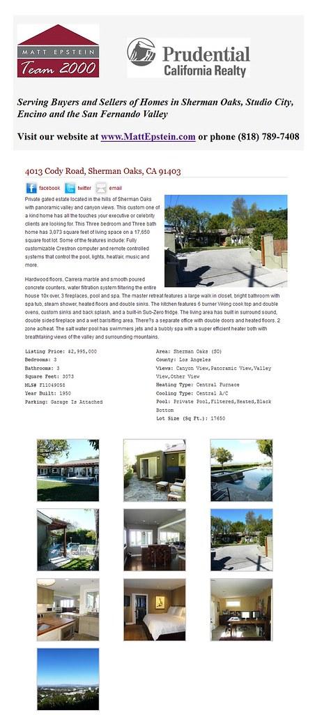 4013 Cody Road, Sherman Oaks, CA 91403 - Matt Epstein Team 2000 1310492912507