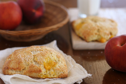 peaches cream scones 4