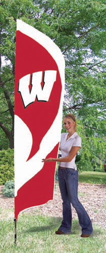 Wisconsin Tall Feather Flag