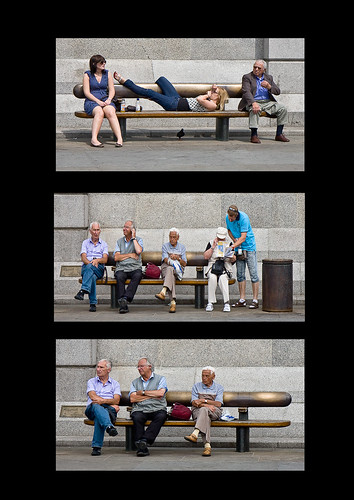 All life on a bench by Fred Dawson