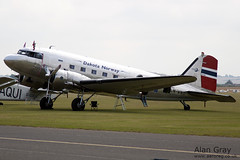 LN-WND - DOUGLAS DC-3 C-53D-DO - 110710 - Duxford - Alan Gray -IMG_0339
