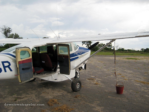 Small plane in Botswana