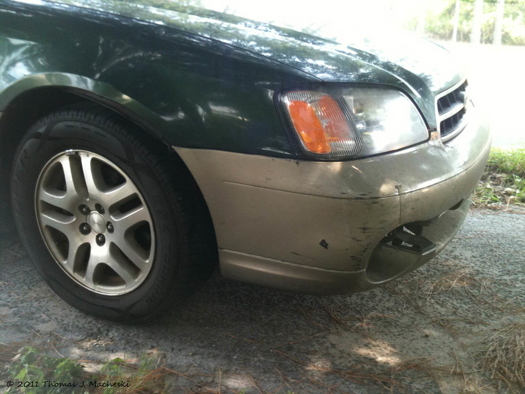 Damages to Sydney Subaru Outback