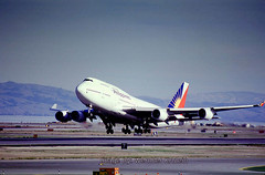 Boeing 747-469, Philippine Airlines PAL, N754PR, (SFO) (Wernher Krutein) Tags: california travel usa plane giant airplane commerce technology publictransportation sfo aircraft transport jet transportation airline infrastructure boeing747 airliner jumbo aerospace b747 widebody jetliner sanfranciscointernationalairport longrange passengerplane commercialaviation turbofan civilaviation twinaisle cf6 philippinos fanjet fourengine cf680c2b1f boeing747469 sanfranciscointernationalairportsfo n754pr philippineairlinespal