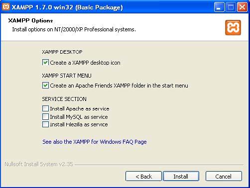 Xampp Desktop