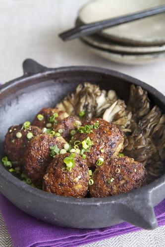 鶏つくねのバルサミコソース