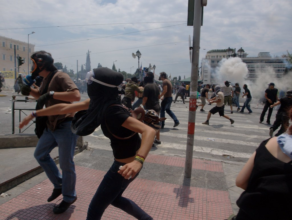 The Battle of Syntagma Square - Athens, Greece