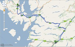 Portree To Ft William Driving Map